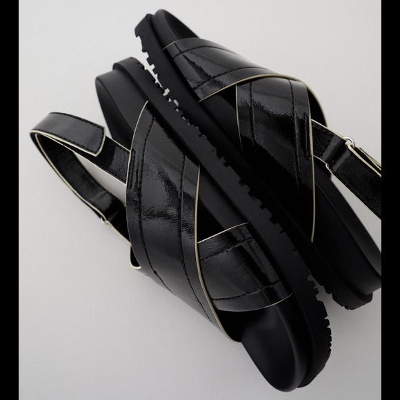 Zara crossed strapped sandals
